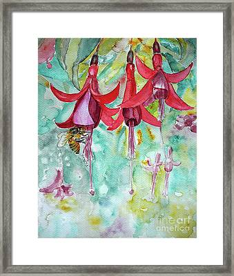 Framed Print featuring the painting  Fuchsia by Jasna Dragun