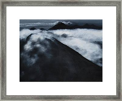 Fuego Volcano Framed Print by Patricia Ann Dees