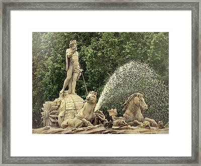 Fuente De Neptuno Framed Print by JAMART Photography