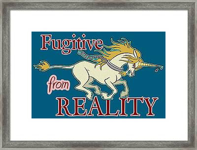 Fugitive Unicorn Framed Print