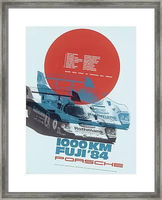 Fuji 1000 Kilometres Porsche 1984 Framed Print