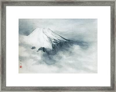 Fuji - Fresh Snow Framed Print by Suiko Sakurai