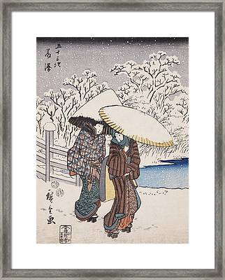 Fujisawa Framed Print by Hiroshige