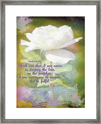 Fulfill Framed Print by Michelle Greene Wheeler
