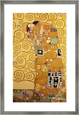 Fulfilment Stoclet Frieze Framed Print by Gustav Klimt