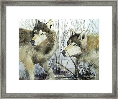 Full Alert Framed Print