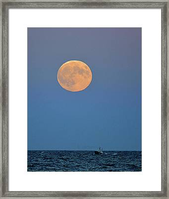 Full Blood Moon Framed Print by Nancy Landry