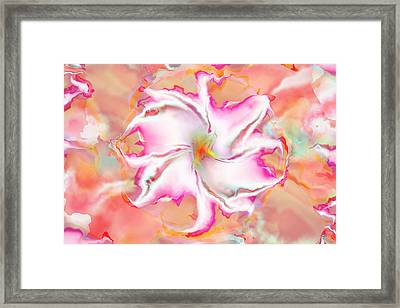 Framed Print featuring the digital art Full Bloom by Richard Ortolano