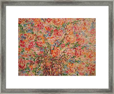 Full Bouquet. Framed Print