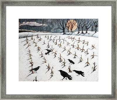 Full Cold Moon Framed Print by Grace Keown