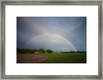 Full Double Rainbow Framed Print