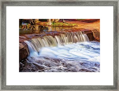 Framed Print featuring the photograph Full Flow, Noble Falls, Perth by Dave Catley