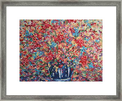 Full Flower Bouquet. Framed Print