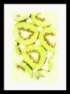 Kiwifruit Framed Prints