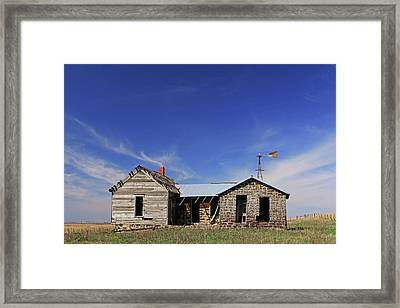 Full Frontal Prairie Home Framed Print by Christopher McKenzie