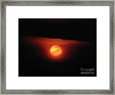 Full Harvest Moon Framed Print