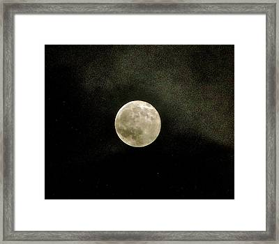 Full Moon - October 2010 Framed Print