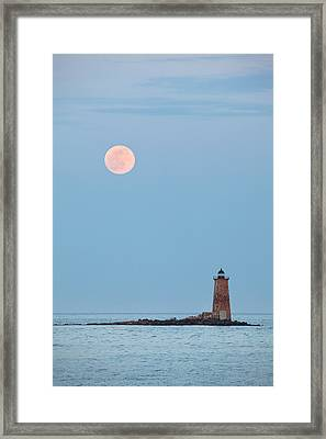 Full Moon And Whaleback Framed Print by Eric Gendron
