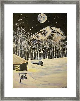 Full Moon At The Sundance Nordic Center Framed Print
