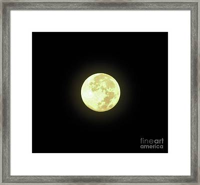 Full Moon August 2014 Framed Print