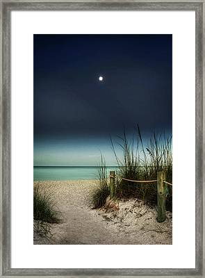 Full Moon Beach Framed Print