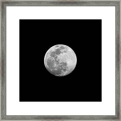 Full Moon Framed Print by CP Cheah
