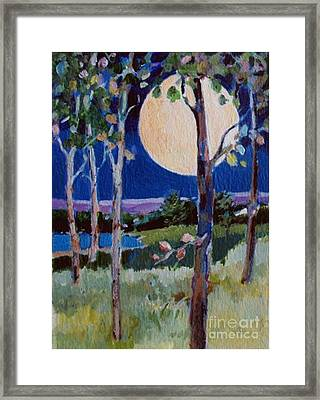 Framed Print featuring the painting Full Moon by Diane Ursin