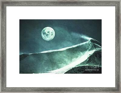 Full Moon Flurry Framed Print by KaFra Art