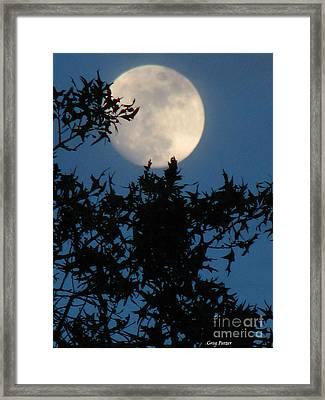 Full Moon Framed Print by Greg Patzer