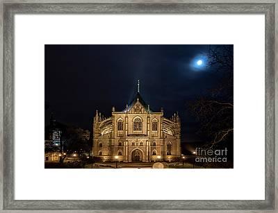 Full Moon In Kutna Hora Framed Print by Christian Hallweger