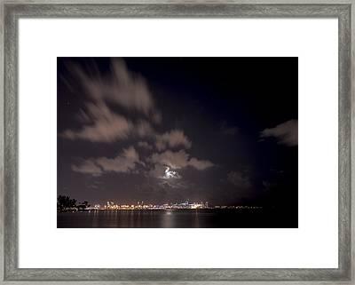 Full Moon In Miami Framed Print