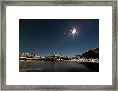 Full Moon In The Arctic Framed Print
