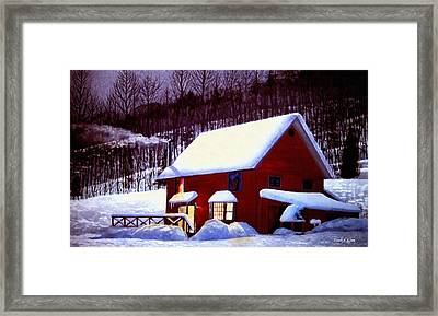 Full Moon In Vermont Framed Print by Frank Wilson