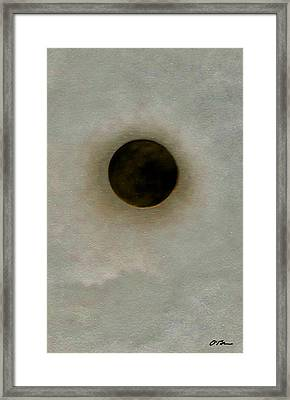 A Hole In The Universe Framed Print by Claudia O'Brien