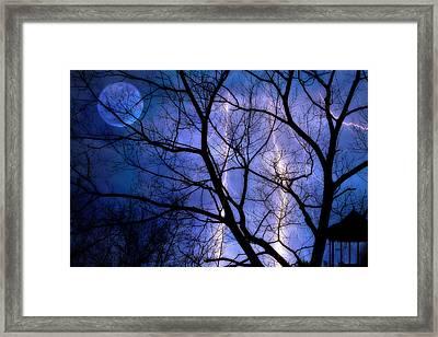 Full Moon Lighting Framed Print by Randy Steele