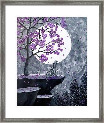 Framed Print featuring the painting Full Moon Magic by Teresa Wing