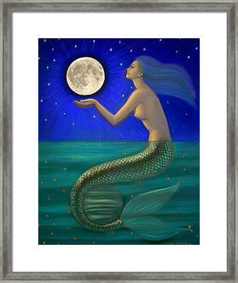 Full Moon Mermaid Framed Print