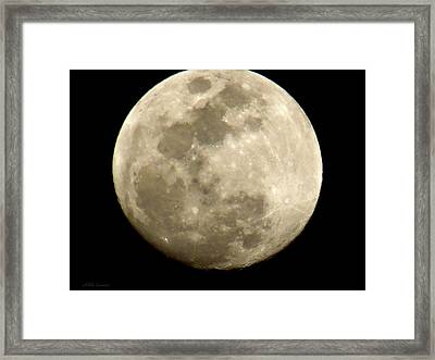 Full Moon  Framed Print by Mikki Cucuzzo