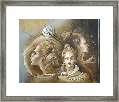Full Moon Mysticism Framed Print by Jacque Hudson