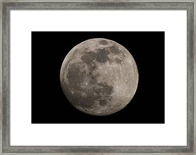 Framed Print featuring the photograph Full Moon by Nathan Rupert