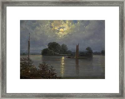 Full Moon Near Pillnitz Framed Print by MotionAge Designs