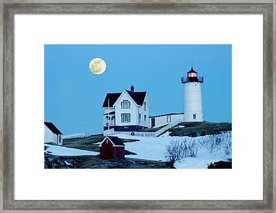 Full Moon Nubble Framed Print by Greg Fortier