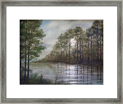 Full Moon On The River Framed Print by Kathleen McDermott