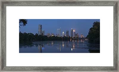 Full Moon Over Austin Framed Print