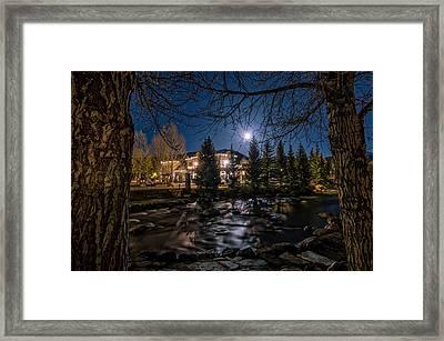 Full Moon Over Breckenridge Framed Print by Michael J Bauer