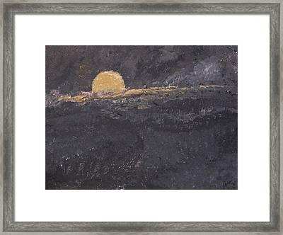 full moon over Brookside Framed Print