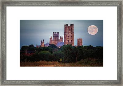 Full Moon Over Ely Cathedral Framed Print