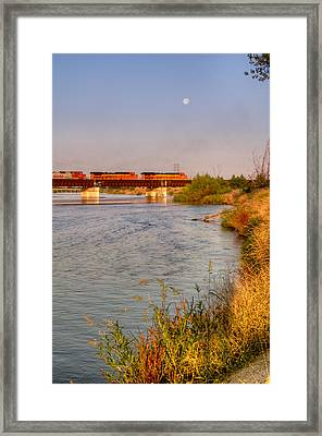 Full Moon Over Kern River Framed Print
