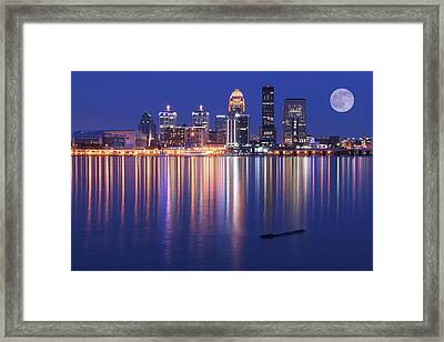 Full Moon Over Louisville Framed Print by Frozen in Time Fine Art Photography