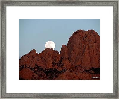 Full Moon Over Mountain  Framed Print by Adam Jones
